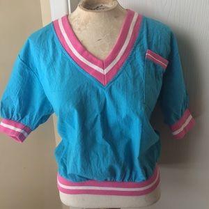Vintage pastel V neck top